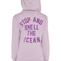 Wildfox Couture Stop & Smell The Ocean Hoodie in Black Berry
