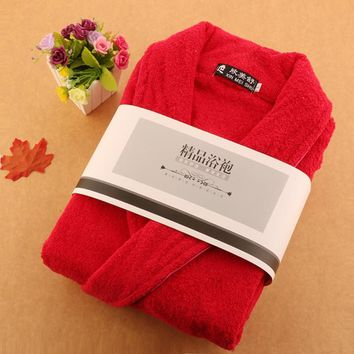 Cotton men bathorbe  XXL men's pajamas male robe nightgown boys blanket towel fleece thick soft long warm winter summer