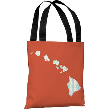 """""""Hawaii State Type"""" 18""""x18"""" Tote Bag by OneBellaCasa"""