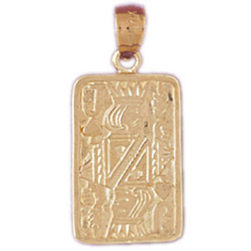14K GOLD GAMBLING CHARM - PLAYING CARD #5454