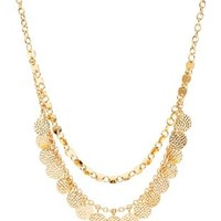 Gold Layered Coin Collar Necklace by Charlotte Russe