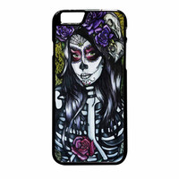 Floral Sugar Skull Day Of The Dead iPhone 6 Plus Case