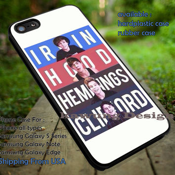 Band, irwin, hood, hemmings, clifford, music, 5sos, 5 Second of Summer, case/cover for iPhone 4/4s/5/5c/6/6+/6s/6s+ Samsung Galaxy S4/S5/S6/Edge/Edge+ NOTE 3/4/5 #music #cartoon #5sos ii