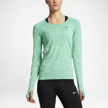 The Nike Dry Knit Women's Long Sleeve Running Top.
