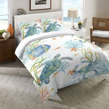 Sea Life Serenade Duvet Cover