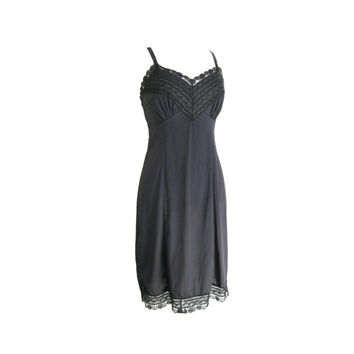 Black Lace Slip Dress Size Small