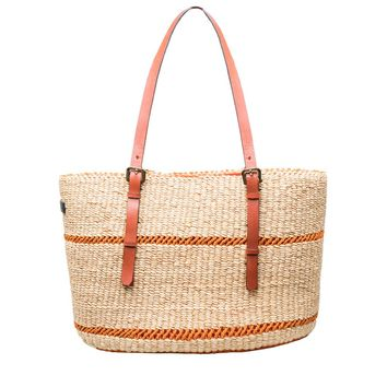 Raffia Large Pochette Bag