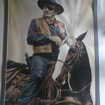 Painting of John Wayne by Nancy Ely
