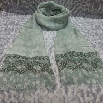 New Versace Women Scarf .made In Italy. 60x200cm. Modal90%+cashmere10%.