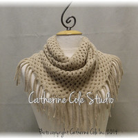CHIC FRINGE in Fawn scarf fringe scarves knit scarf women fall scarf infinity scarf tube scarves womens scarf Catherine Cole Studio SC5