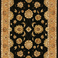 Dynamic Rugs Jewel Black Classic Rectangle Area Rug