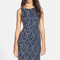 Women's Pisarro Nights Embellished Mesh Cocktail Dress