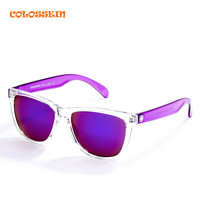COLOSSEIN BLUE LABEL Fashion Sunglasses Brand Women Rectangle White Frame Cool Eyewear Popular Female Beach Glasses Hot Sale