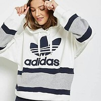 """Adidas"" Women Fashion Hooded Top Pullover Sweater Sweatshirt"