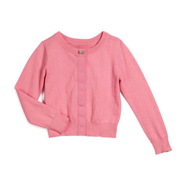 afton button-front cardigan, pink, size s-xl, Size: