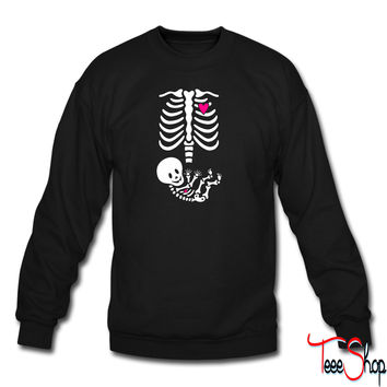 Full Maternity Skeleton X ray MP sweatshirt