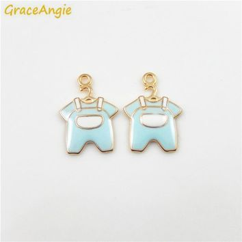 GraceAngie Cute Baby Shower Children's Wear Style Trendy Bracelet Necklace Pendant Findings Charms Women DIY Jewelry Crafts
