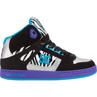 Dc Shoes Rebound Girls Shoes Black/Zebra  In Sizes