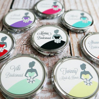 Personalized Bridesmaid Gift - Compact Mirror - Choose Any Design