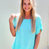 Moonlight Ride Blouse {Aqua}