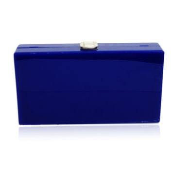 Navy Blue Acrylic Box Clutch