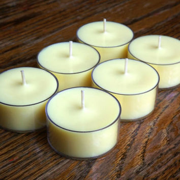 Brandied Pear Tea Light Candles Set of 6 Soy Tea Light Candles - Fruit Candles - Fall Candles