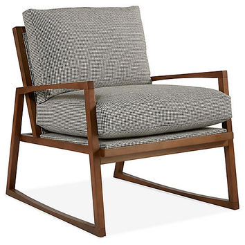 Markus Chair, Charcoal Houndstooth - Accent Chairs - Chairs - Living Room - Furniture | One Kings Lane