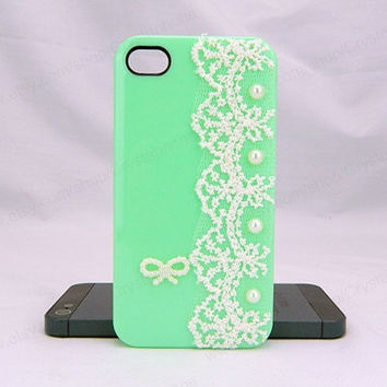 Lace iPhone case,apple green,bling iphone 6 case,Crystal iphone 6 Plus,Rhinestone iphone 5/5S/5c,iphone 4 case samsung galaxy S3/S4/S5