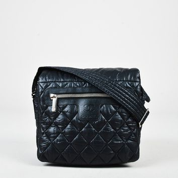"Chanel Black Quilted Nylon Small ""Coco Cocoon"" Messenger Bag"