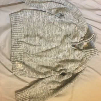 H&M Toddler Sweater Boys Gray Half Zip Sweater, Beautiful And Soft, Size 4-6