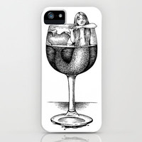 House Red With Mermaid iPhone Case by Laurie A. Conley | Society6