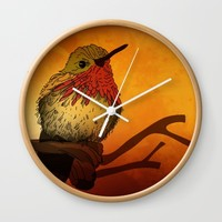The Sunset Bird Wall Clock by Texnotropio