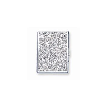 Nickel-plated or Brass-plated Glitter Cigarette/Card Case