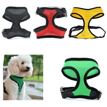 Adjustable Pet Dog Chest Vest Harness Puppy Cat Collar for Small Dog leads Mesh Strap Set Comfort Dog Accessories 35