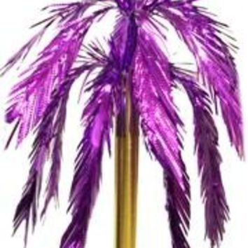 26in Purple Feather Cut Fountain