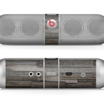 The Overlapping Aged Planks Skin for the Beats by Dre Pill Bluetooth Speaker