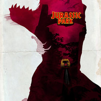 Inspired Movie Poster #2: Jurassic Park (1993) Art Print by Leonardo Paciarotti Di Maggio