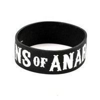 Sons of Anarchy SOA Silicone Rubber Red A Logo Symbol Bracelet - Sons of Anarchy - | TV Store Online