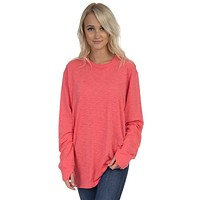 Slouchy Tee in Coral by Lauren James - FINAL SALE