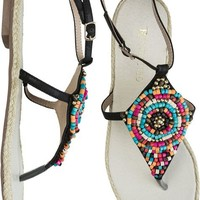 RESTRICTED TABOO BEADED SANDAL | Swell.com