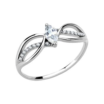 Evelyn - Women's Stainless Steel Ring High Polished No Plating Clear CZ Engagement Ring
