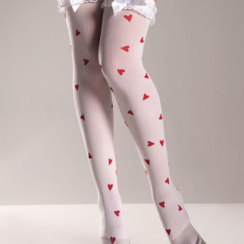 Hearts Thigh Highs