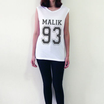 Zayn Malik 93 One Direction 1D Shirt Tank Top T-Shirt Sleeveless Vest Women Muscle Tee Shirts Tshirts Size S M L