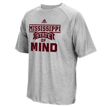 Mississippi State Bulldogs adidas Sideline Swagger ClimaLITE T-Shirt – Gray