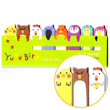 Bird Shaped Memo Pad Post-it Index Tab Sticky Notes Bookmarks | Cute Affordable Stationery | Animal Themed