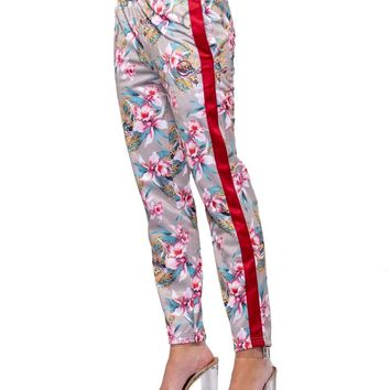 Monstruo Jr Track Pants - Red/Pink