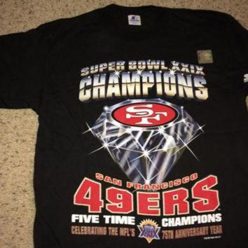 LMFON Sale!! Vintage Starter San Francisco 49ers 'Super Bowl XXIX CHampions' Football Shirt