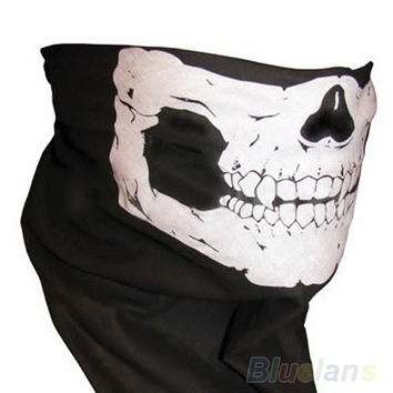 deals] Skull Bandana Bike Motorcycle Helmet Neck Face Mask Paintball Ski Sport Headband = 5978920577