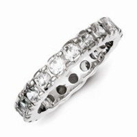 Sterling Silver CZ Wedding Band Ring
