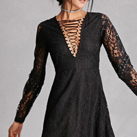 Twelve Lace V-Neck Mini Dress